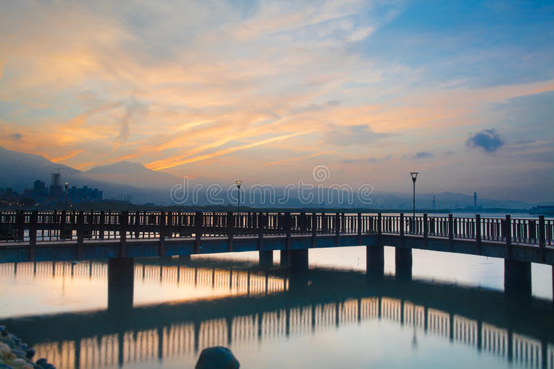Download Taiwan, The New Taipei, Tamsui Sunset Stock Photo - Image: 19794988