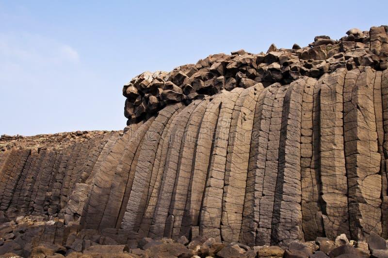 Taiwan Penghu basalt royaltyfri bild