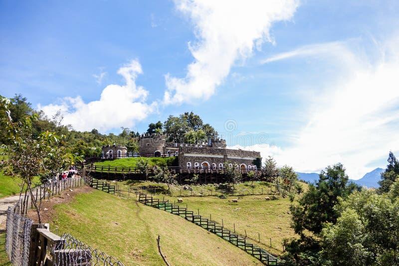 Taiwan Qing Jing Farm Mountain Castle stock foto