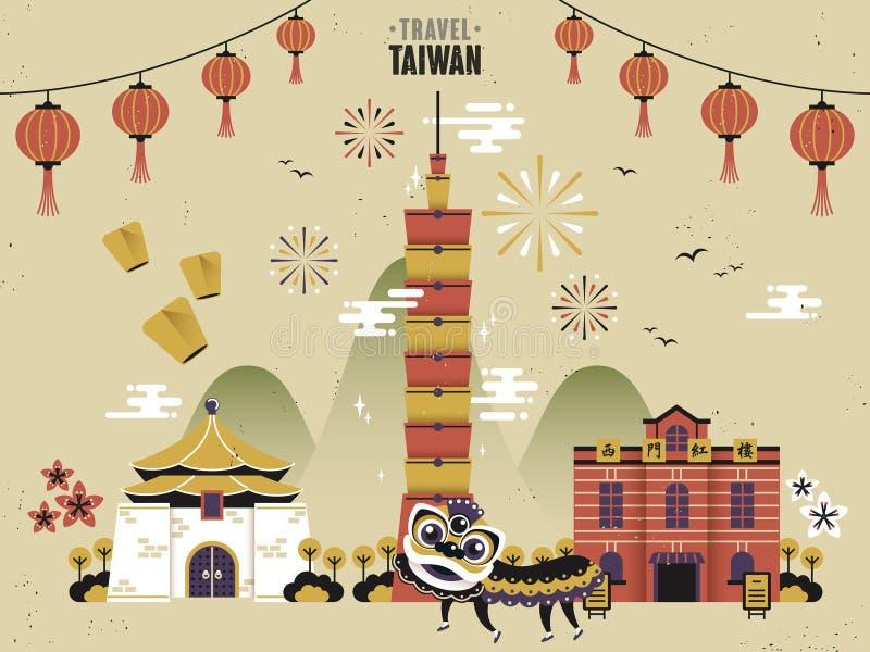 Taiwan-Reise stock abbildung