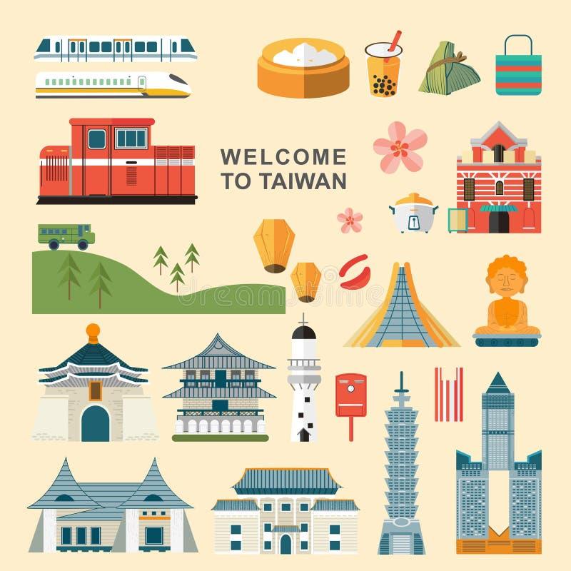 Taiwan-Reisekonzeptsammlungen lizenzfreie abbildung