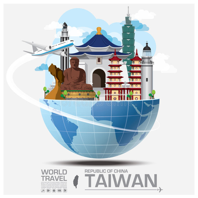 Taiwan Republic Of China Landmark Global Travel And Journey Info royalty free illustration