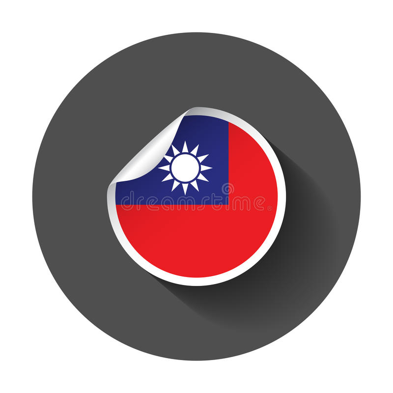 Download taiwan sticker with flag stock vector illustration of isolated 92641619