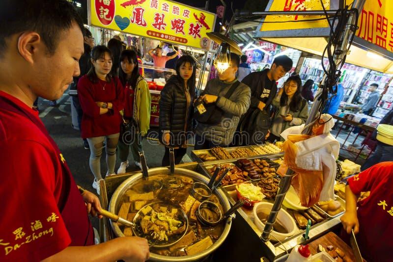 Taiwan Street Food Natt Market royaltyfria foton