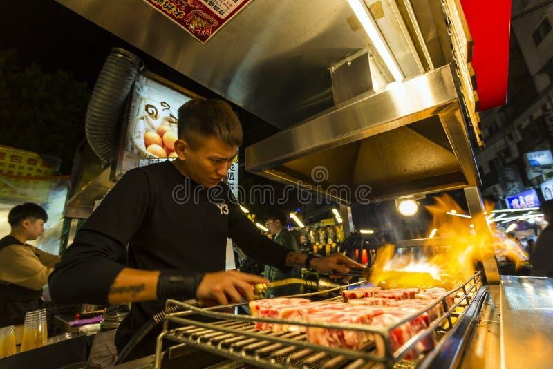 Taiwan Street Food Natt Market royaltyfri bild