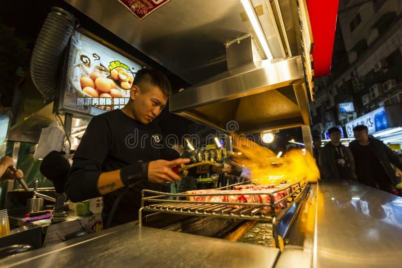 Taiwan Street Food Natt Market fotografering för bildbyråer