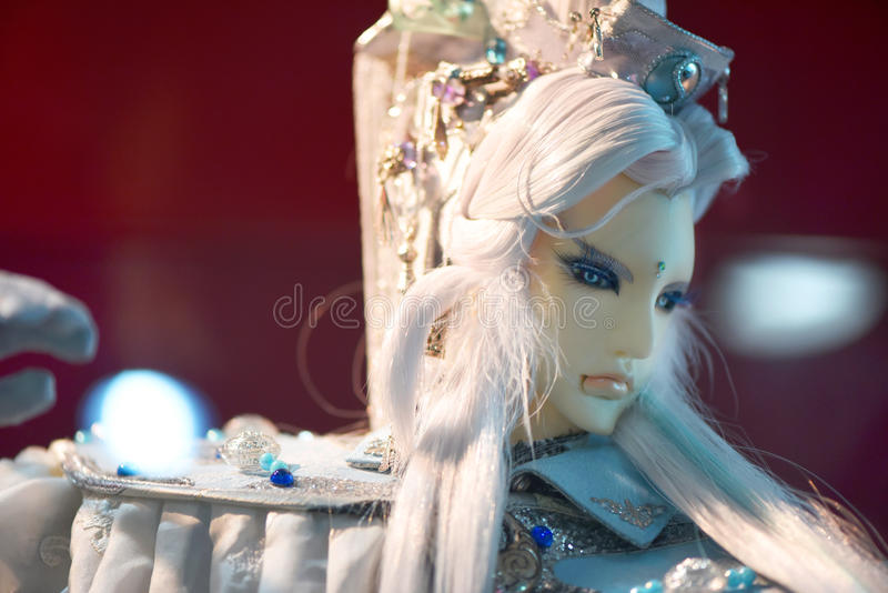 Taiwan traditional puppetry. Taiwan traditional drama Puppetry; handsome model puppets role Silvery Hair royalty free stock photos