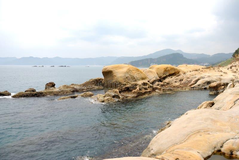 Taiwan Yehliu Geo-park landscape royalty free stock images