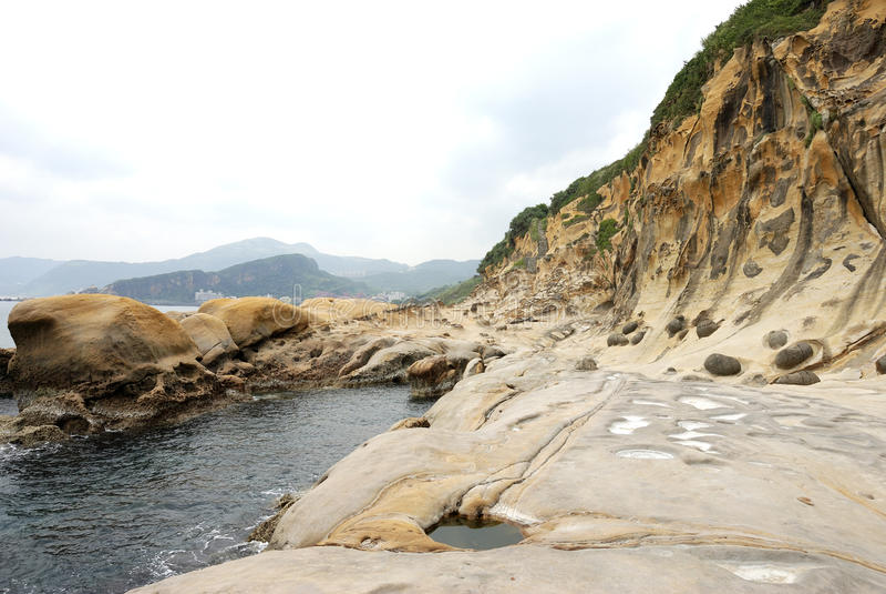 Taiwan Yehliu Geo-park landscape stock image
