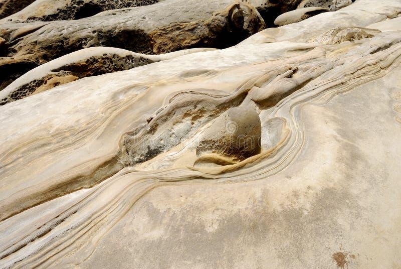 Taiwan Yehliu Geo-park landscape royalty free stock photography
