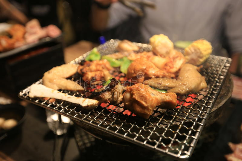 Taiwanese BBQ stock foto's