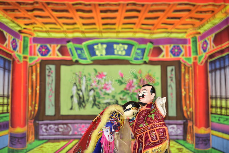 Taiwanese glove puppetry. Taiwanese glove puppetry is one of outdoor theater. Show in temple fairs to reward the god stock photos