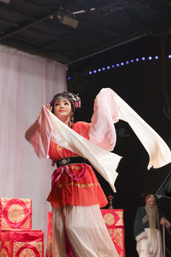 Taiwanese opera love story gold and jade ryoen. ( 金玉良缘 ), starred by famous actress suyanrong ( 苏燕蓉 ) ,xiamen city stock photos