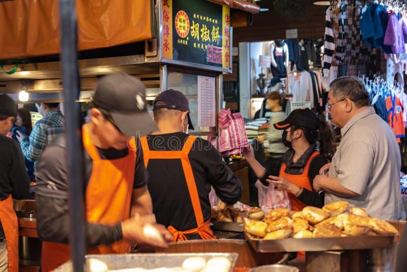 Taiwanesisches Pfeffer-Brötchen oder gebackenes Brötchen stockbilder