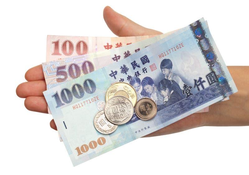 taiwanse стандарта монеток счетов стоковое фото