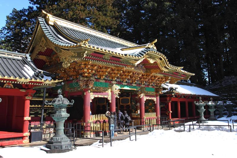 Taiyu-no templo, peça do templo de Rinnouji foto de stock royalty free