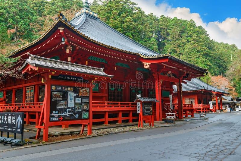 Taiyuinbyo - mausoleet av shogunen Tokugawa Iemitsu arkivfoton