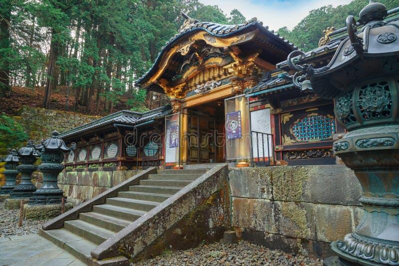 Taiyuinbyo - mausoleet av shogunen Tokugawa Iemitsu royaltyfri fotografi