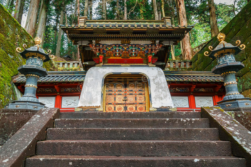 Taiyuinbyo relikskrin i Nikko, Japan royaltyfri foto