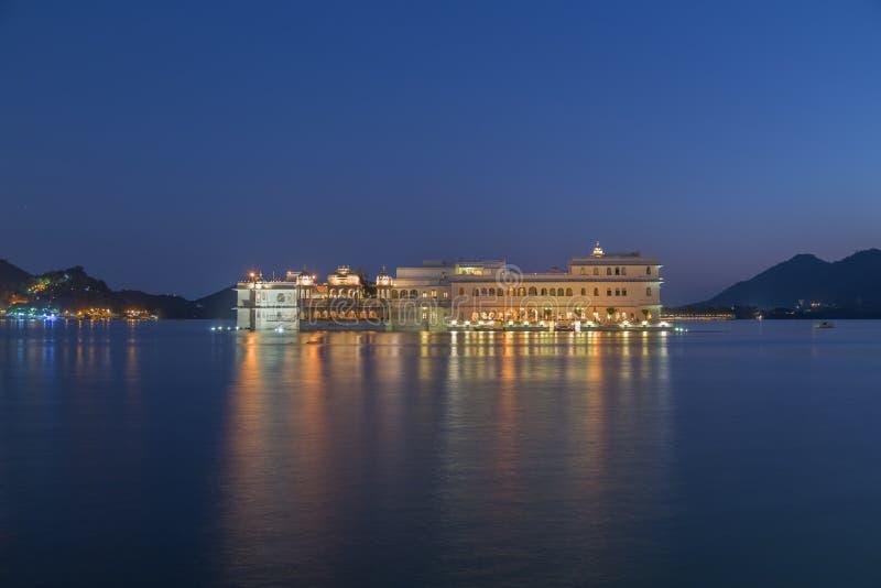 Taj乌代浦市的,印度湖宫殿 免版税库存图片