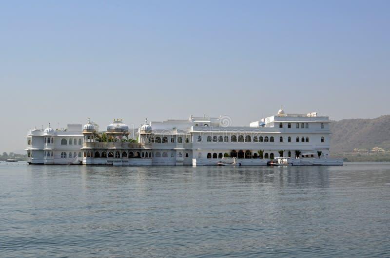 Taj湖宫殿、乌代浦和湖Pichola,印度 库存图片