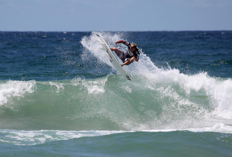 Taj Burrows - australiano Australia virile aperta fotografia stock