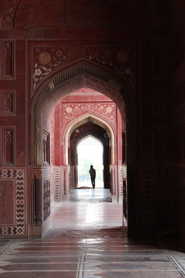 Taj interior Mahal Pasillo imagen de archivo