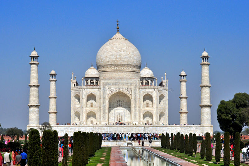 Taj Mahalï ¼ Indien lizenzfreie stockfotos