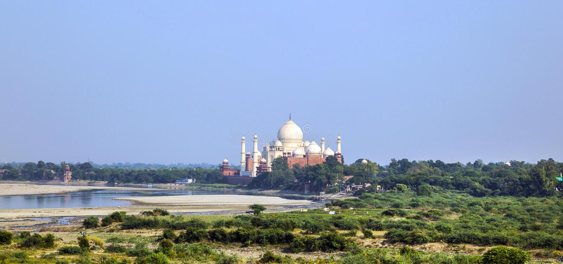 Taj Mahal à Âgrâ images stock