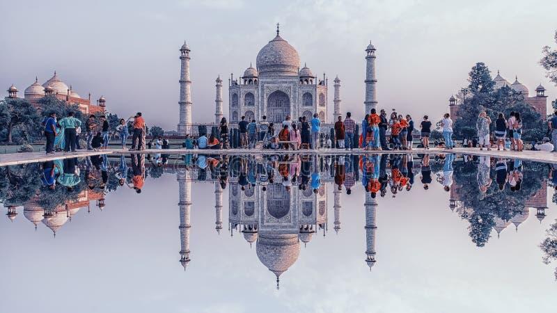 Taj Mahal à Agra image libre de droits
