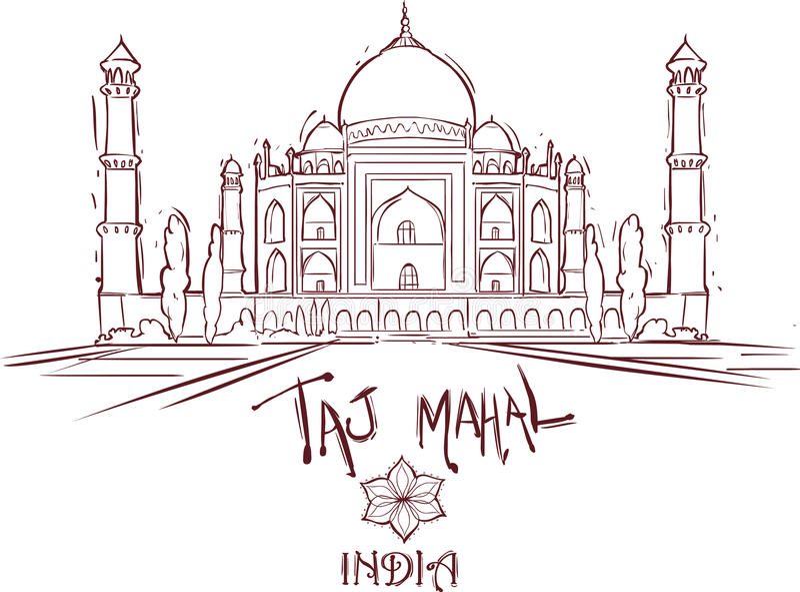 Taj Mahal ındıa stock illustratie