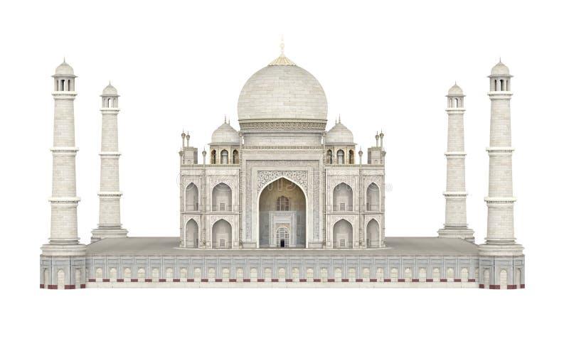 Taj Mahal που απομονώνεται ελεύθερη απεικόνιση δικαιώματος