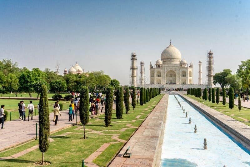 Taj Mahal σε Agra, Ινδία στοκ εικόνα με δικαίωμα ελεύθερης χρήσης