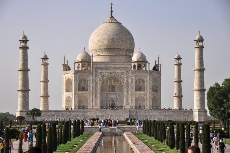 Taj Mahal, υπέροχα αναμμένο στον ήλιο απογεύματος, Agra Ινδία στοκ φωτογραφίες με δικαίωμα ελεύθερης χρήσης