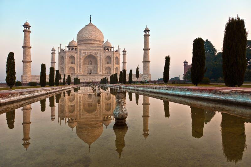 Taj Mahal в Индии стоковое изображение