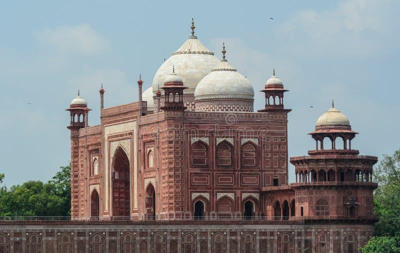 Taj Mahal в Agra, Индии стоковое изображение rf