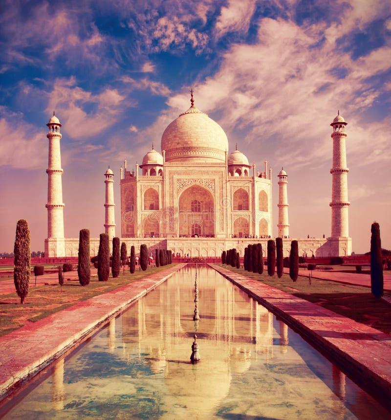 Taj Mahal в Agra, Индии стоковое фото rf