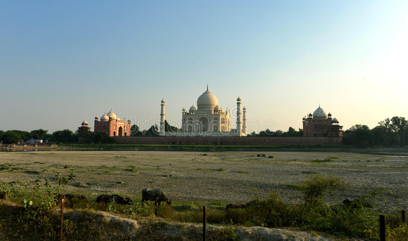 Taj Mahal на заходе солнца, Индии стоковое фото