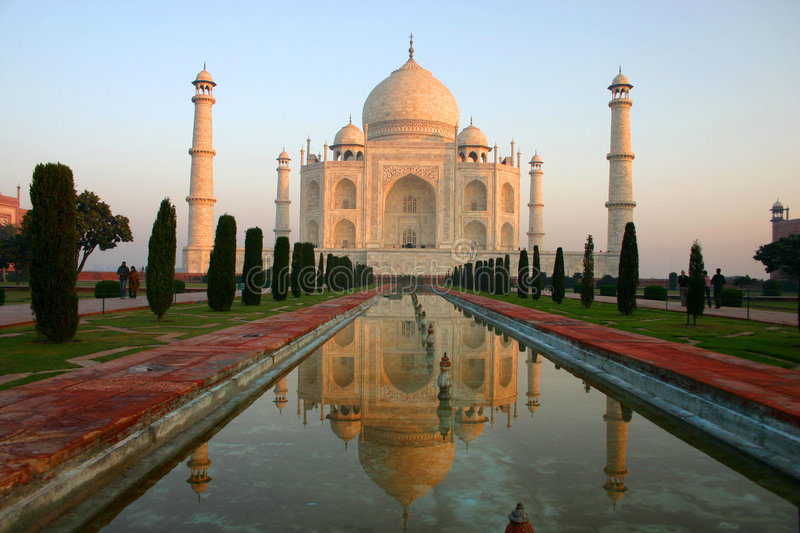 Taj Mahal. The Taj Mahal in Agra, India royalty free stock image