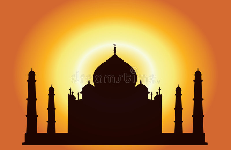 Taj Mahal royalty free illustration
