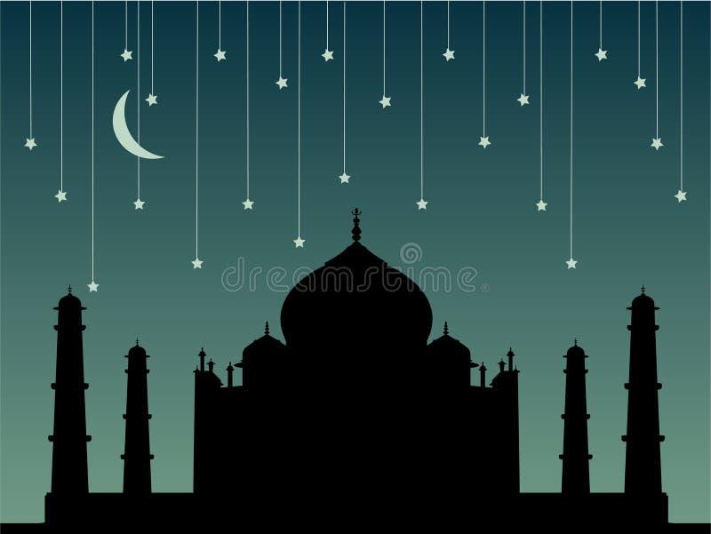 Taj Mahal ilustração royalty free