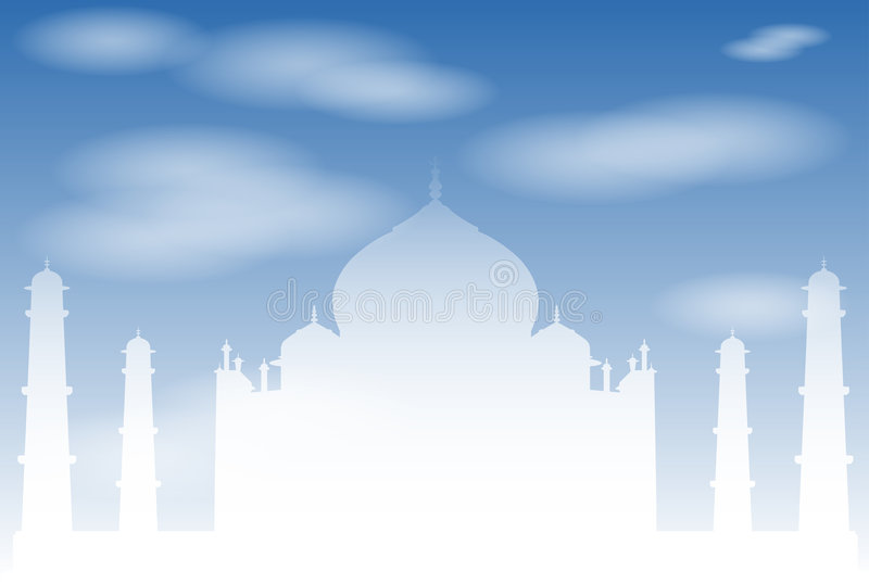 Taj Mahal! ilustração royalty free