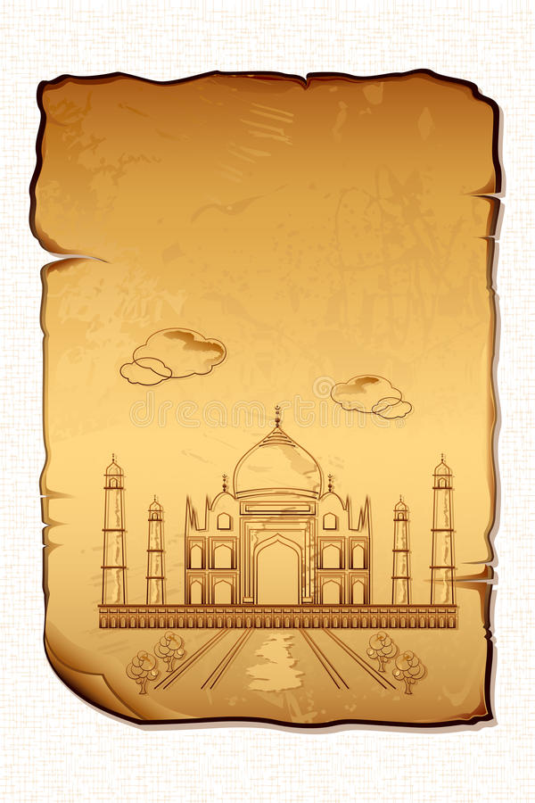 Taj Mahal illustration stock
