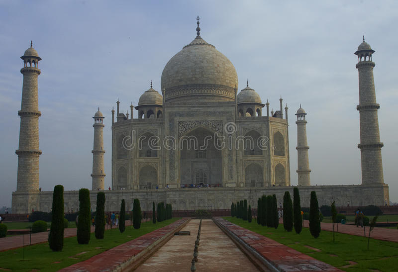 Taj Mahal. The Great Taj Mahal palace, India stock photography