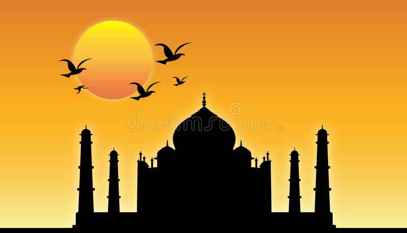Taj Mahal ! illustration stock