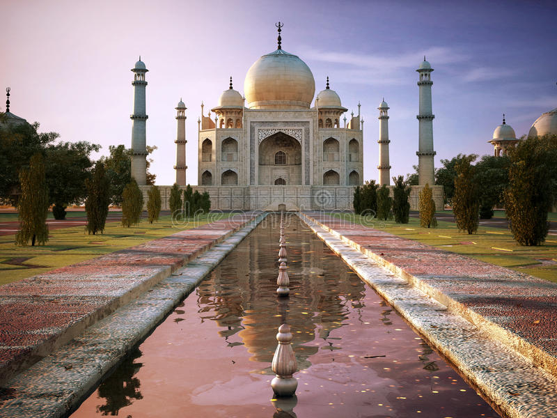 Download Taj Mahal stock image. Image of gold, beauty, places - 24661165