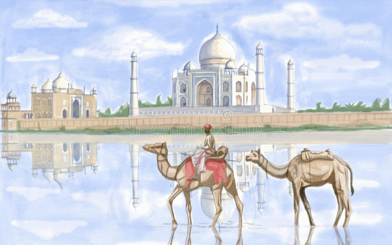 Taj Mahal ilustración del vector