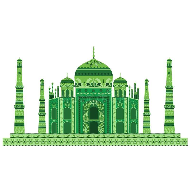 Download Taj Mahal ilustración del vector. Ilustración de agra - 41900501