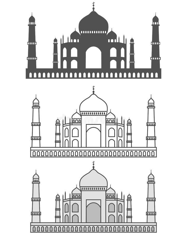 Taj Mahal royalty illustrazione gratis