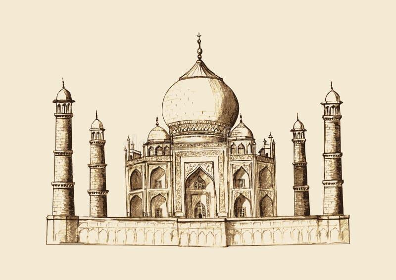 Taj Mahal libre illustration